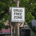 drug free zone sign