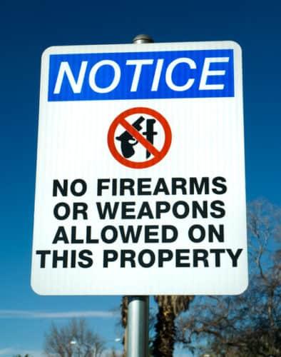 weapons free zones
